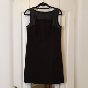 Loft • Dress with Leather Detailing